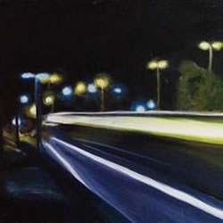 "Night study - no2 | 12"" x 24"" 